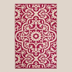 One of my favorite discoveries at WorldMarket.com: Fuchsia Floral Indoor-Outdoor Rug - 8x10 - $104.99