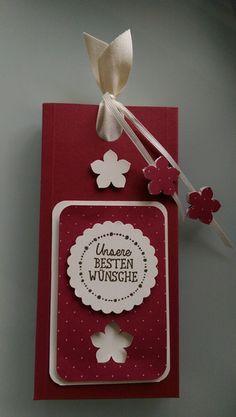 Geschenkverpackungen - Ziehschokoladenverpackung incl. 1 Lindt Schokolade - ein Designerstück von Mein-Kreativpoint bei DaWanda