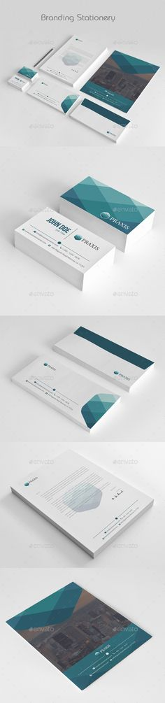 Buy Business Stationery by azadcsstune on GraphicRiver. File Includes Letterhead and Letter size Business Card Envelope Presentation Folder Editable Illustrator files (ai. Corporate Stationary, Corporate Identity, Brand Identity, Branding, Stationery Printing, Stationery Design, Print Templates, Design Templates, Presentation Folder