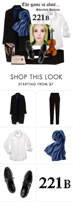 """""""Mary- Sherlock Gender Bender"""" by glamourgrammy ❤ liked on Polyvore featuring Hanita, The Row, Uniqlo, Dear Frances and WALL"""