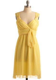 yellow dress, or this style in another color.
