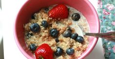 Quinoa for Breakfast with Strawberries