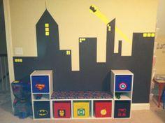 Owen's superhero playroom - inspired by Pinterest.  :)