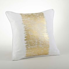 Found it at Wayfair - Agatha Metallic Banded Cotton Throw Pillow