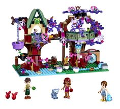 The Elves' Treetop Hideaway: Explore this set with 3 mini-doll figures, panther cub, opening leaf curtains, magic ladder bridge and more.