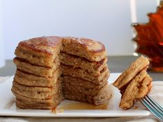 HEALTHY PANCAKES? YES! = Fluffy Whole Wheat Oatmeal Pancakes. Plus a tip to make the fluffiest pancakes ever.