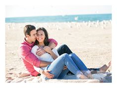 Adorable beach engagement session!