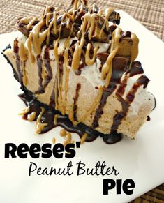 Peanut Butter Pie This Reese's Peanut Butter Pie is sure to knock your socks off. With a delicious no-bake peanut butter cheesecake filling and topped with Reese's Miniatures, you can't go wrong with this easy dessert.Socks (disambiguation) Socks are item Dessert Simple, Bon Dessert, Dessert Party, Reese Peanut Butter Pie, Peanut Butter Desserts, Peanut Recipes, Chocolate Peanut Butter, No Bake Recipes, Peanut Butter Pie Recipe No Bake