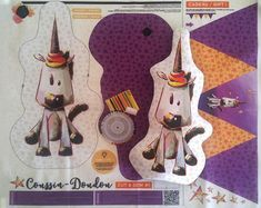 Tissu pour Coussin-doudou (ou bouillotte sèche) licorne + guirlande de drapeaux à coudre soi-même - cut and sew