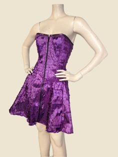 Corset Dress by Mad.Girl Clothing - Purple Tab Fabric. $230.00, via Etsy.