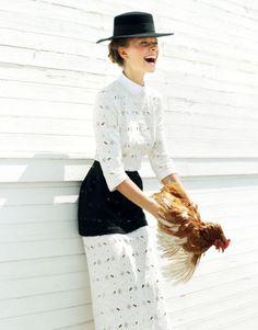 YULIANA DEMENTYEVA FOR @ELLE Magazine (US) Magazine (US) UKRAINE AUGUST 2013 by @L E City Kitty #fashion #editorial #elle #model #fashionaddict