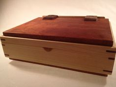 Wooden Box with wood hinges Etsy, $95.00