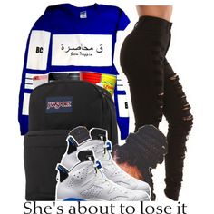 ~Chauncey by dopest-queens on Polyvore featuring JanSport and NIKE