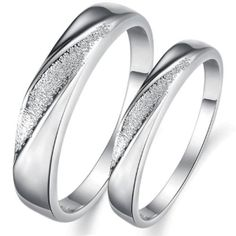 OPK Jewelry Rings Platinum Plated In Alloy White Gold Engagement Rings Wedding Band Doll Polish Wedding Bands,Men Wedding Ring Pics, Wedding Ring For Her, Cool Wedding Rings, White Gold Wedding Bands, Wedding Band Sets, White Gold Rings, Silver Ring, Wedding Bells, Wedding Ceremony