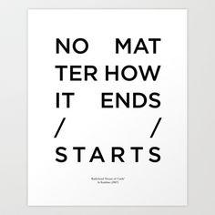 Radiohead House of Cards Lyrics Art Print by Mark McKenny - $16.00