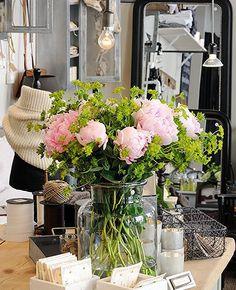 Beautiful boho peony bouquet
