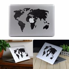 World Map Vinyl Decal Sticker Skin For MacBook Air/Pro Laptop This decal is made from high quality vinyl to ensure a hard wearing and long lasting graphic for your MacBook. Maintains the sleek and con