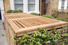Bespoke Timber Bin Parks and Bike Sheds in London Shed Design, Roof Design, Garden Design, Storage Building Kits, Building A Shed, Craftsman Sheds, Cedar Trellis, Farmhouse Sheds, Shed Base