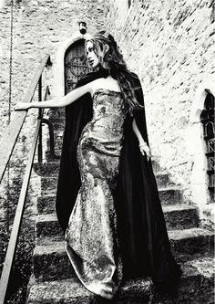 What a great Senior Pic idea if taken at the High Gate......Keira Knightley by Ellen Von Unwerth. Harper's Bazaar, UK
