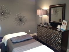 Trilogy Medical Center Treatment Room. Beautiful space to lay and relax for a facial, laser hair removal, eyebrow wax, eyelash extensions, botox, fillers, massage.