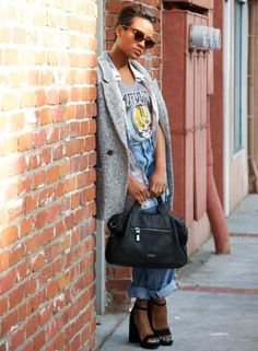 Rock Tee + High Waisted Jeans