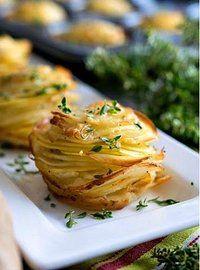 Torrette di patate e timo