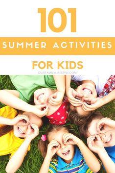 101 Summer Activities for Kids. Outdoor Summer Activities for Kids featuring backyard ideas, crafts, games, and more. #summer #summerfun #summeractivities #summeractivitiesforkids #activitiesforkids #backyardideas #kidscrafts #gamesforkids #kidssummer