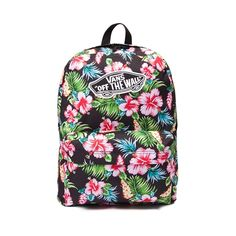 Take a tropical trip with the new Hawaiian Floral Backpack from Vans! Pack for adventure with the Hawaiian Floral Backpack featuring a tropical printed exterior with logo patch, and plenty of compartment space for all of your essentials.