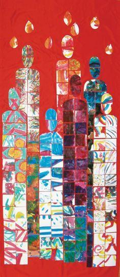 Pentecost narthex banner