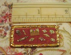 Pearl Button Handmade Miniature Jewellery Display Tray
