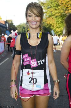Katie Piper swap girlie glamour for sports gear as they run half marathon  