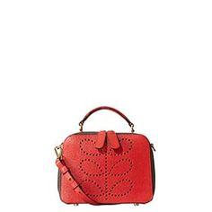 Textured Leather Mini Bay Bag Lipstick
