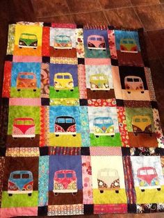 Items similar to VW volkswagen Bus Quilt fits vw bus bed. Approx 4 ft by 6 ft on Etsy Combi Hippie, Combi Ww, Mobiles, Picnic Quilt, Sampler Quilts, How To Finish A Quilt, Wow Art, Shirt Quilt, Applique Quilts