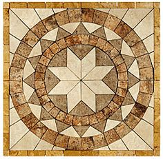Stone Collection Mexican Travertine Medallions Marques GSCCMEDMARQUES