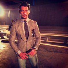 David Gandy at the London Collections: Men June 2014 - Day 2