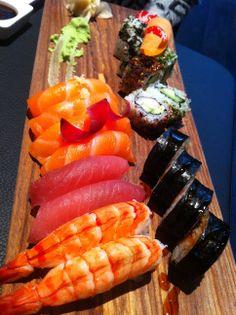 Sushi Selection at Sticks'n'Sushi, Covent Garden - http://www.squaremeal.co.uk/restaurants/london/view/117397/Sticks_'n'_Sushi