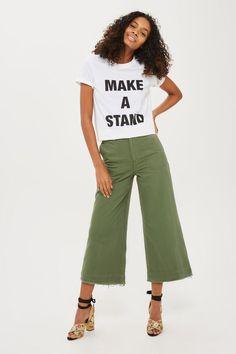 Topshop- Frayed Hem Sailor Trousers