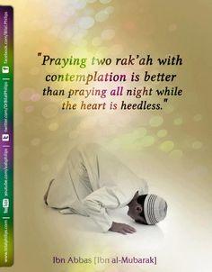 Praying two rak'ah...