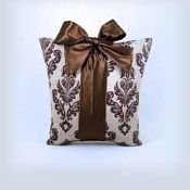 Woof n Poof Christmas Pillows, Package Pillow, Large Brown