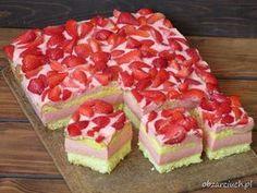 Truskawkowe ciasto z serków Danio Ale, Raspberry, Cheesecake, Cooking Recipes, Fruit, Food, Cappuccinos, Per Diem, Pies