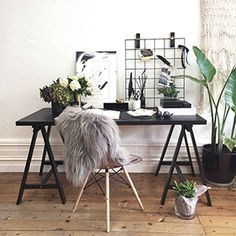 A home office might not get a lot of non-work related use but just because you have to work in there doesn't' mean it can't have great style! Here are some home office decorating ideas that will give your room… Continue Reading → Home Office Design, Home Office Decor, Home Decor, Office Ideas, Desk Office, Office Inspo, Office Designs, Desk Inspo, Office Chic