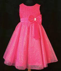 cc0500180e2 Παιδικό Φόρεμα σε Φούξια για Παρανυφάκι, Πάρτυ, Βάπτιση