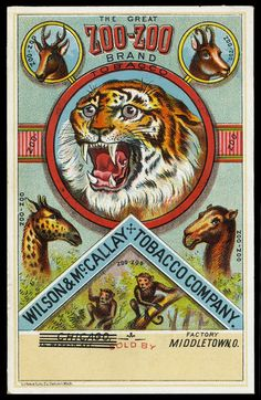 Zoo-Zoo brand tobacco trade card Middletown OH.