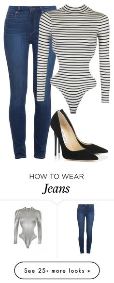 """Pumps x jeans x one piece"" by le-lola on Polyvore featuring мода, Paige Denim и Jimmy Choo"