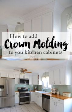 28 best kitchen cabinet crown molding images diy ideas for home rh pinterest com