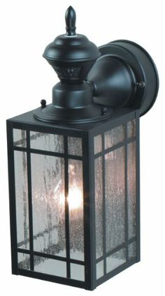150 Degree Point Mission Wall Lantern, Black