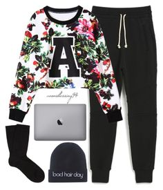 """Stay At Home Saturday"" by avonsblessing94 ❤ liked on Polyvore featuring John Elliott + Co, Falke and Wet Seal"