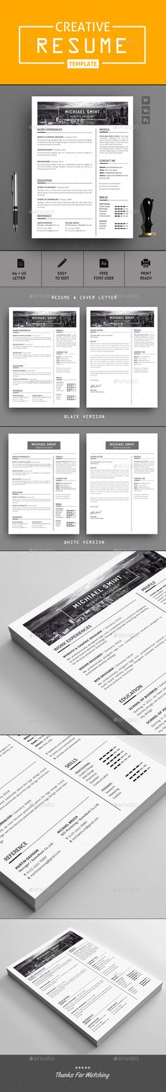 #resume - #Resumes Stationery Download here:  https://graphicriver.net/item/resume/20366324?ref=alena994