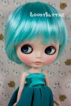"""12"""" Goodyblythe Hair Wig for Blythe Peppermint Long Bob @ etsy"""
