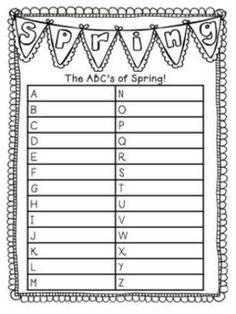 Describing Spring with ABC's